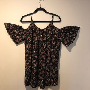 French connection cold shoulder dress XS floral
